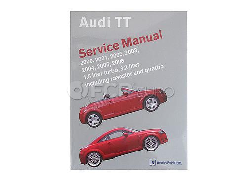 Audi Repair Manual (TT TT Quattro) - Bentley AU8005006