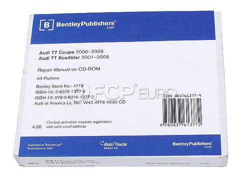 Audi Repair Manual On CD-ROM - Bentley ATT6