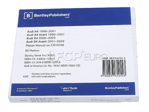 Audi CD-ROM Repair Manual (A4 A4 Quattro S4) - Robert Bentley AU8054000
