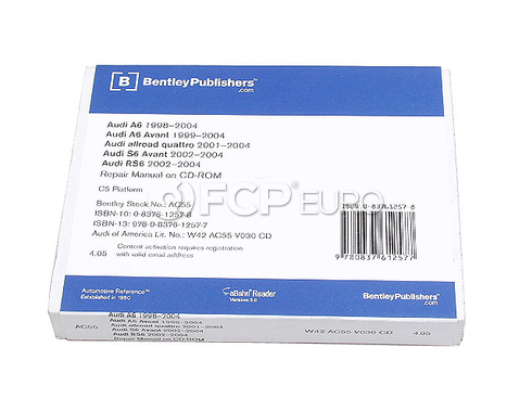 Audi Repair Manual On CD-ROM (A6 AllRoad RS6 S6) - Bentley AC55