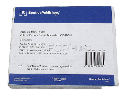Audi Repair Manual On CD-ROM (90) - Bentley A905