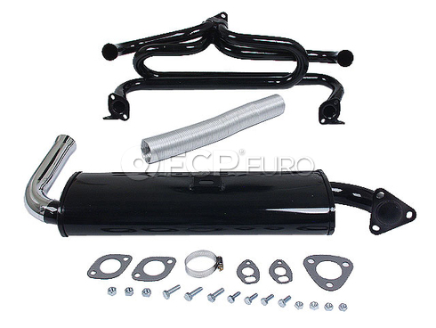 VW Exhaust System Kit (Beetle Karmann Ghia Super Beetle) - EMPI VW7802018