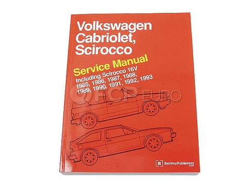 VW Repair Manual (Cabriolet Scirocco) - Robert Bentley VW8000110