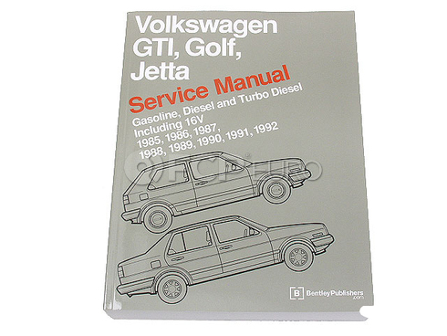 VW Repair Manual (Golf Jetta) - Bentley VW8000112