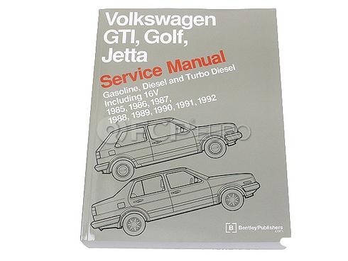 VW Repair Manual (Golf Jetta) - Bentley VG92