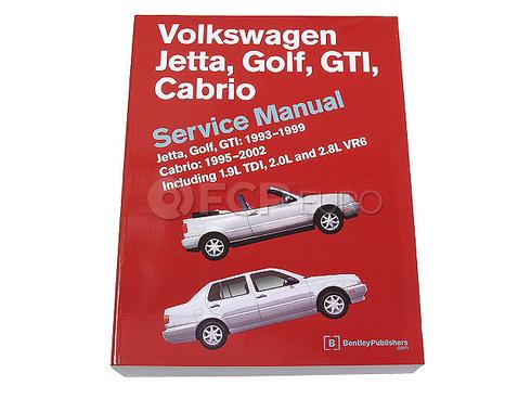 VW Repair Manual (Jetta Golf Cabrio) - Bentley VW8000116
