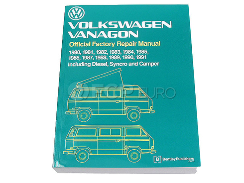 VW Repair Manual (Vanagon Transporter) - Bentley VW8000148