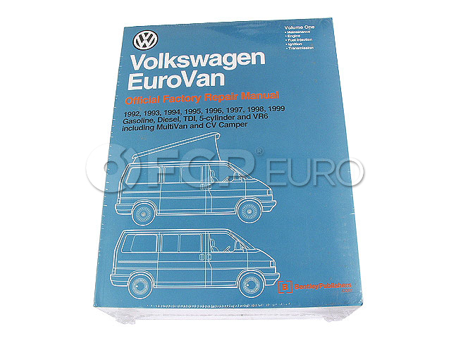 VW Repair Manual - Bentley VV99 on