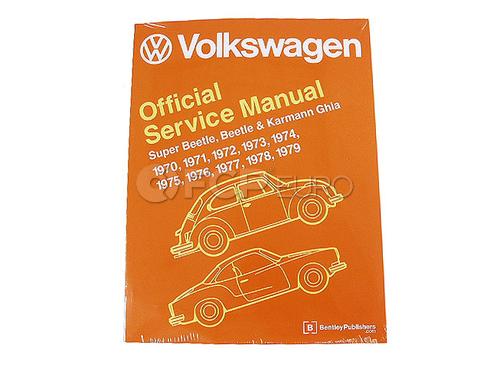 VW Repair Manual (Beetle Karmann Ghia Super Beetle) - Robert Bentley VW8000179