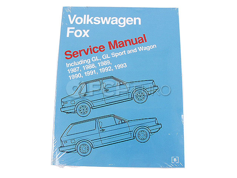 VW Repair Manual (Fox) - Bentley VW8000503