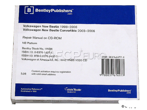 VW CD-ROM Repair Manual (Beetle) - Bentley VW8051005