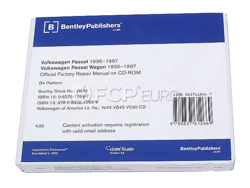 VW CD-ROM Repair Manual (Passat) - Robert Bentley VW8053000