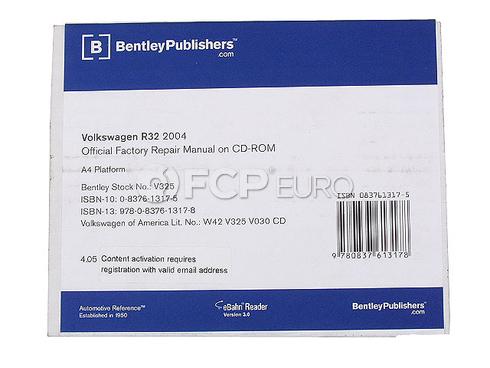 VW Repair Manual On CD-ROM (Beetle) - Bentley V325