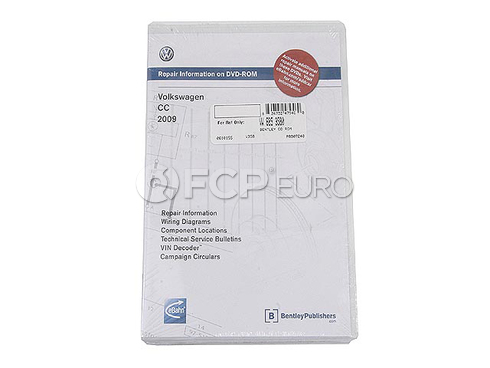 VW CD-ROM Repair Manual (CC) - Bentley VW8053580
