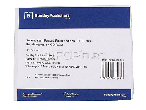 VW Repair Manual On CD-ROM (Passat) - Bentley VB55
