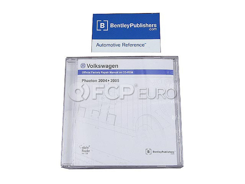 VW CD-ROM Repair Manual (Phaeton) - Bentley VW8059005