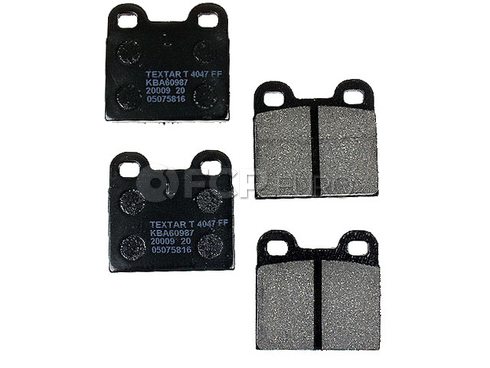 VW Brake Pad Set (Beetle Karmann Ghia Fastback Squareback) - Textar D101T