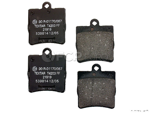 Mercedes Brake Pad Set Rear (C Class) - Textar 0034202720