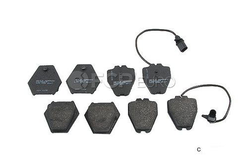 Audi VW Brake Pad Set - Meyle Semi Metallic D420SM
