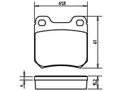 Saab Brake Pad Set - Pagid D905P