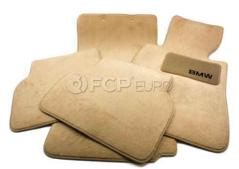 BMW Beige Carpeted Floor Mat Set (E39) - Genuine BMW 82111469760