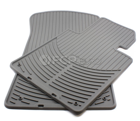 BMW Rubber Floor Mats Grey Front (E46) - Genuine BMW 82550151489