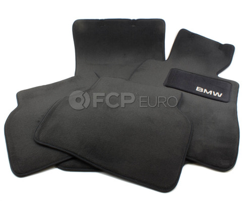 BMW Anthracite Carpeted Floor Mat Set (E39) - Genuine BMW 82111469759