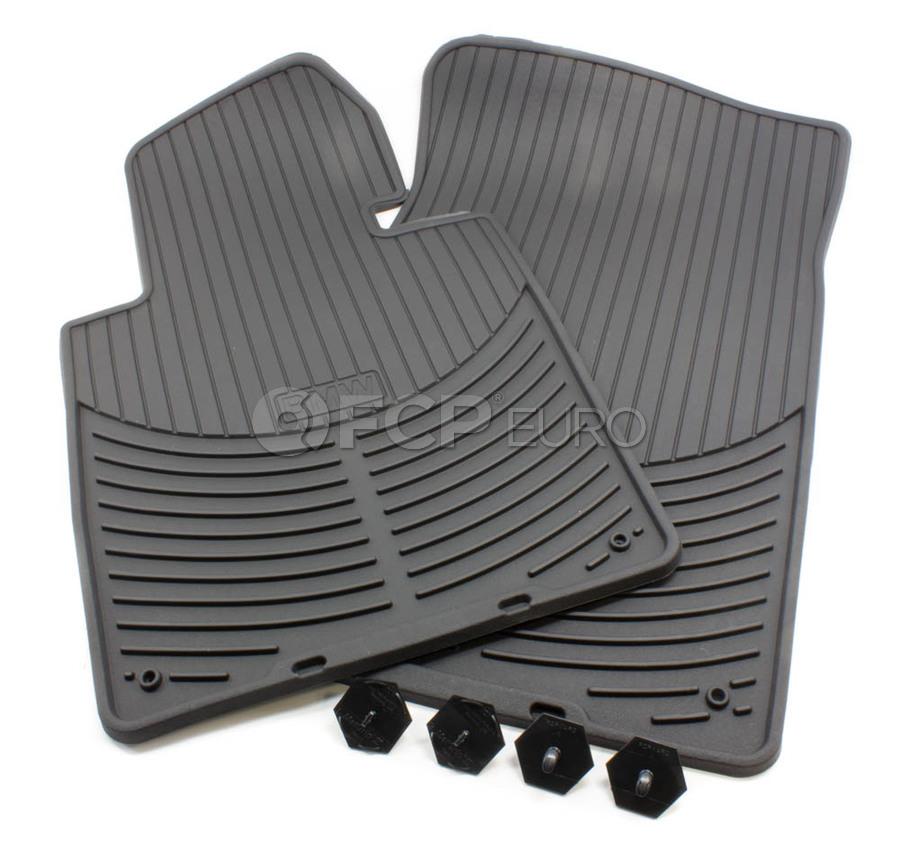 BMW Rubber Floor Mat Set Black E46  Genuine BMW 82550151192