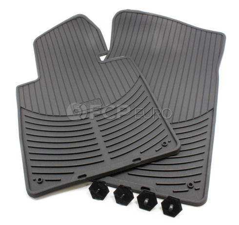 BMW Rubber Floor Mat Set Front (E46) - Genuine BMW 82550151192