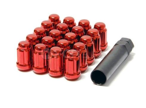 Muteki Red Closed End Lug Nut Set (12x1.25) - 41885R