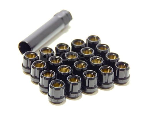 Muteki Deep Black Open End Lug Nut Set (12x1.50) - 31886B