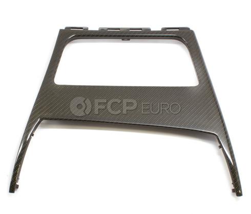 BMW Carbon Fiber Center Console Trim - Genuine BMW 51160442907