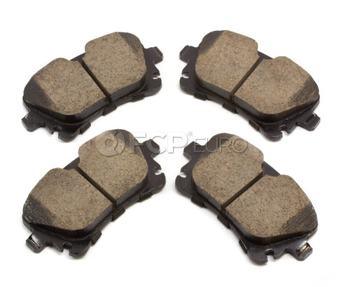 Audi VW Brake Pad Set Rear (A4 A5 A6 S4 Allroad) - Akebono 4B3698451A