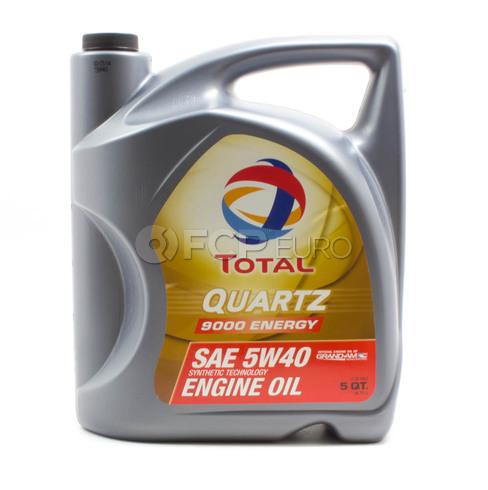 5W40 Quartz 9000 Synthetic Engine Oil (5 Quart) - Total  184952