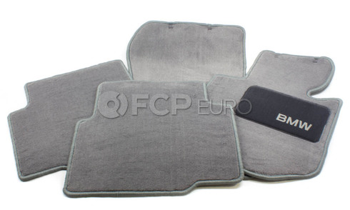 BMW Carpeted Floor Mats set of 4 Grey (E36) - Genuine BMW 82111468283