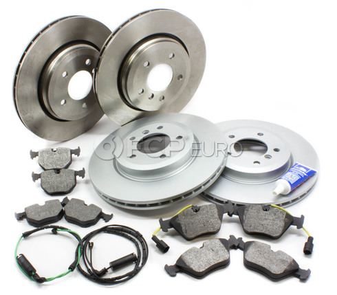 BMW Brake Kit Front and Rear (E46 330i 330ci 330xi) - Bosch QuietCast E46330BKIT1