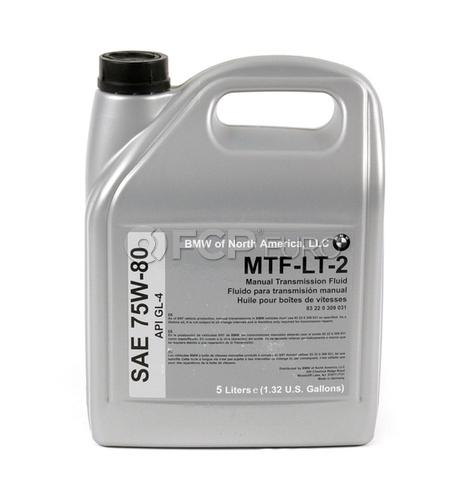 BMW 75W80 MTF-LT-2 Manual Trans Fluid (5 Liters) - Genuine BMW 83220309031