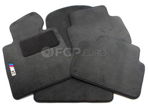 BMW Anthracite Carpeted Floor Mat Set (E46 M3) - Genuine BMW 82110029231