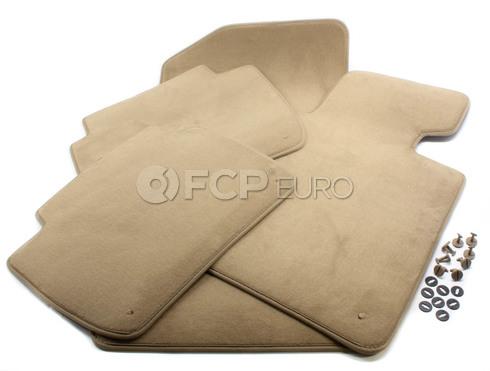 BMW Beige Carpeted Floor Mat Set (E46) - Genuine BMW 51478227522