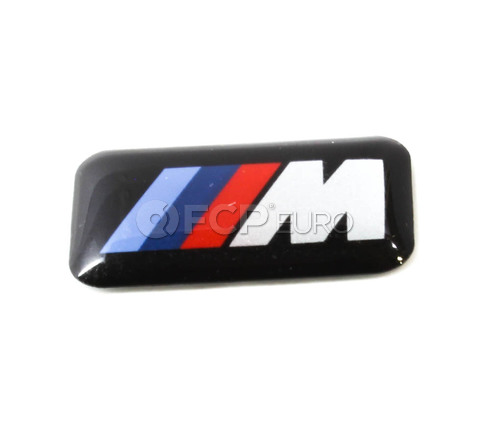 BMW Wheel M Emblem (318i 328i 530i) - Genuine BMW 36112228660