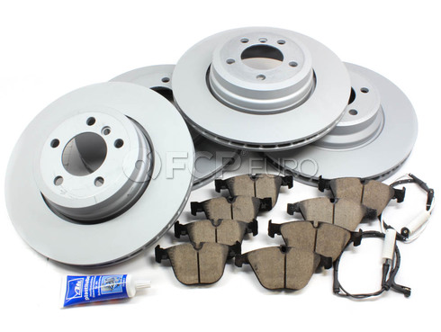 BMW Brake Kit Front and Rear (E65 E66) - Zimmermann/Akebono 34116750267KTFR3