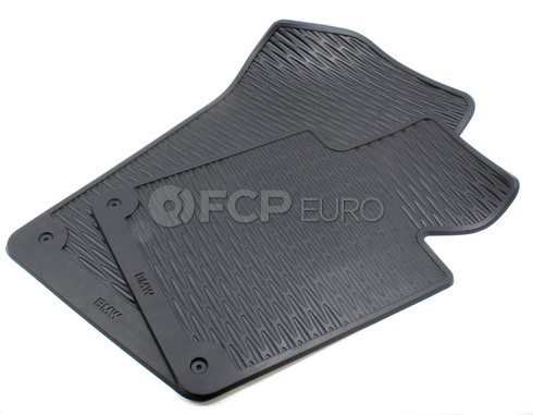 BMW Rubber Floor Mat Set Front - Genuine BMW 82559408540