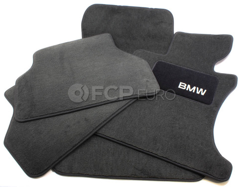 BMW Carpeted Floor Mats Set of 4 Anthracite (E60 Xi) - Genuine BMW 82110403335