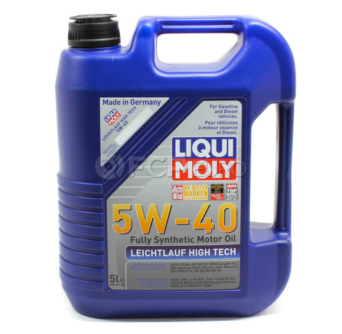 5W40 Leichtlauf High Tech Engine Oil (5 Liter) - Liqui Moly LM2332