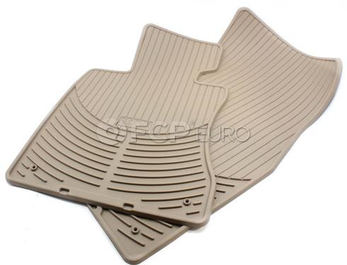 BMW Rubber Floor Mats Set of 2 Beige Front (E60) - Genuine BMW 82550302998