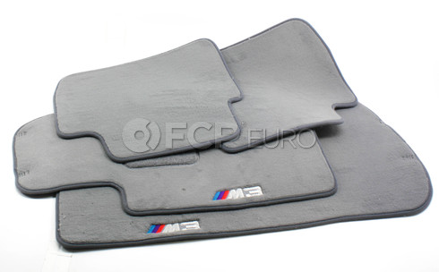 BMW M3 Floor Mat Set (Gray) - Genuine BMW 82110029322