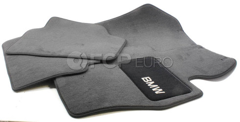 BMW Anthracite Carpeted Floor Mat Set (Set of 4) - Genuine BMW 82112293527