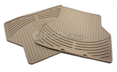 BMW Rubber Floor Mats Set of 2 Beige Rear (E60) - Genuine BMW 82550305180