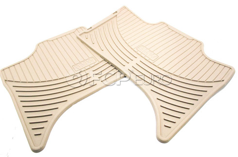 BMW Rubber Floor Mat Set Beige - Genuine BMW 51470151502