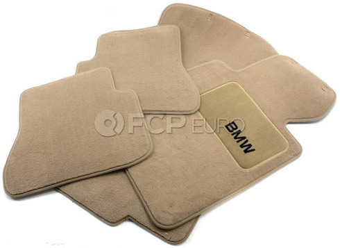 BMW Carpeted Floor Mat Set (Beige) - Genuine BMW 82110021272